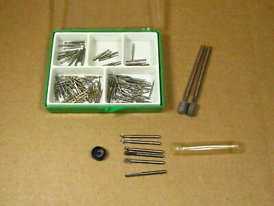 Large Lot Of Mixed Taps, Drill,Cutting Bits Watchmaker