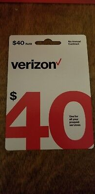 Brand New $40 Verizon Wireless Prepaid Refill Card ( email Delivery)