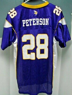 Minnesota Vikings Adrian Peterson Jersey  28 Youth XL 18-20 NFL Reebok a47a43d6a