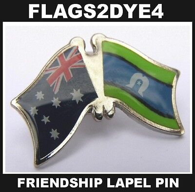 Australia flag TSi Torres Strait flag lapel pin badge + AUSTRALIA POST TRACKING