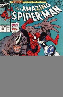 Amazing Spider-Man #344 Signed by Erik Larson Mint /Near Mint (M/NM) Marvel 1990