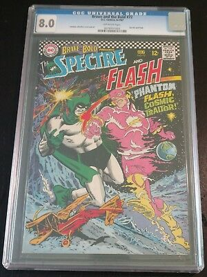 Brave and the Bold #72, CGC 8.0, Off-White Pages, Classic Flash/Spectre Battle!