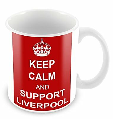 Keep Calm and Support Liverpool Mug-Red by FT