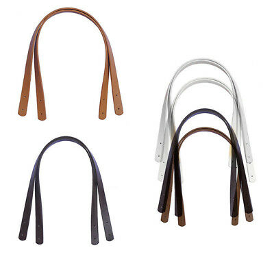 New Handbag Purse Tote Bag Strap PU Leather Handle Strap Handles Replacement 2PC