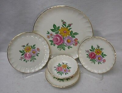 WS GEORGE china ROMANCE pattern 5-piece Place Setting w/ Fruit Bowl - No Cup