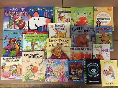 Lot of 100 K-5 Scholastic Learn to Read Picture Mix Set Kid Children Book K30 NR