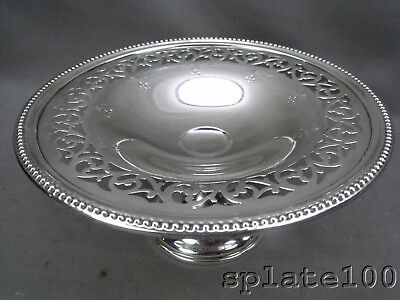Wallace Heavy Gauge Sterling Silver Tazza Reticulated With Floral's 268 Grams