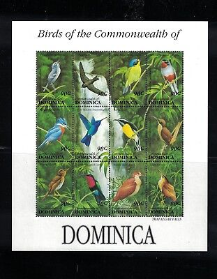 Dominica - Birds Of The Commonwealth. Sheet Of 12. MNH OG.  #02 DOMsh12