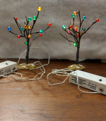 Lemax Village  B/O Lighted Tree Multi Color chasing lights