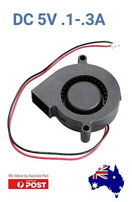 Brushless 2 pin DC Cooling Blower Fan 5015S 5V 0.1-0.3A 50x15mm. IN AUS STOCK