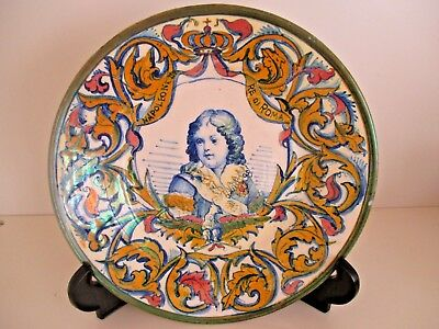 Antique Old Collector Hand Painted Italian French Napoleon II Boy Plate FREEPOST