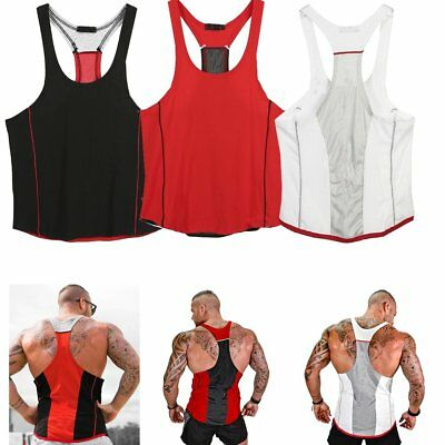 8d9185de65b901 Bodybuilding Men Racerback Tank Top Stringer Workout Gym Singlet Y-Back  Muscle
