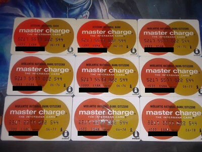 VTG lot of 6 1973-77 MASTER CHARGE CARD INTERBANK MIDLANTIC