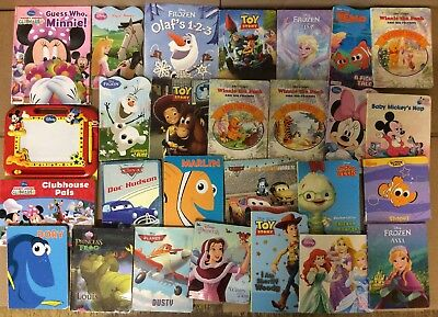 Lot of 25 Disney Board Toddler Hardcover Picture DayCare Child Book UNSORTED K48