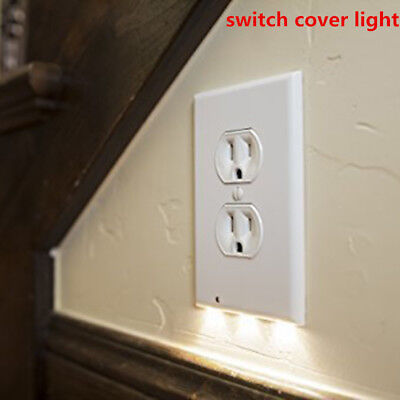 Wall Outlet Cover plate Plug Cover Guide light LED Night Lights Hallway Bathroom