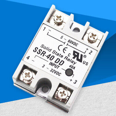Solid State Relay Alloy Heat Sink SSR-40DD 40A Input 3-32V DC Output 5-60V DC
