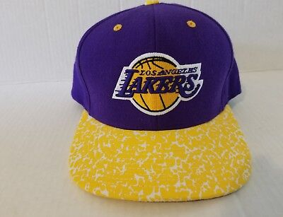 a504c857 Los Angeles Lakers Mitchell & Ness NBA Snapback Hat Logo Hardwood Classic