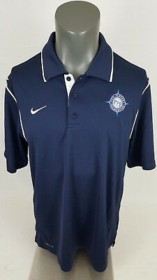 ce7634b2 NIKE SB DRI Fit Polo Shirt Navy Blue White Sz Large 885847-471 ...