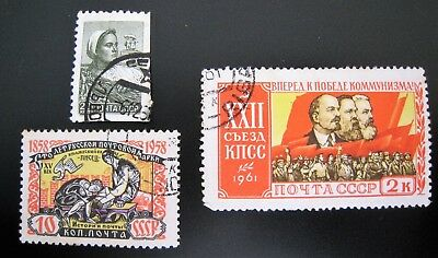 3 USSR Stamps