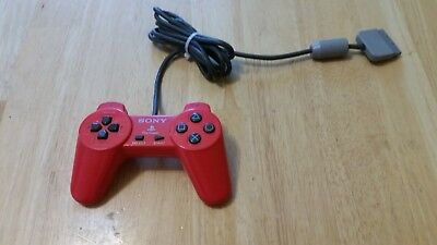 Sony PlayStation 1 PS1 Wired Controller Red SCPH-1080 Original