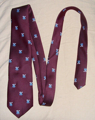 """MASONIC SHRINER NECK TIE - Red Maroon 55"""" long 3 1/4"""" wide Polyester USA"""
