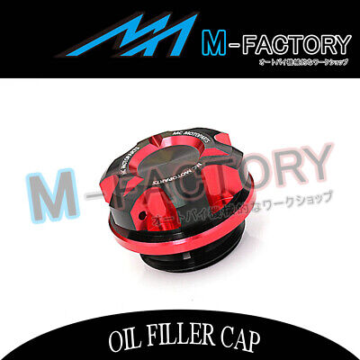 Billet Red CNC T-Axis Engine OIL Filler Cap Fit Yamaha YZF R25 13-2015 13 14 15