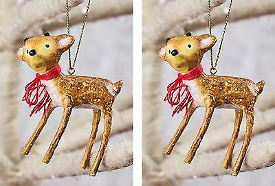 Lori Mitchell™ - Baby Reindeer Ornaments - Set of Two - Christmas 11115