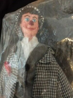 Ringling Bros Barnum & Bailey Clown Figure 16 Inch Doll Sealed Black White Suit