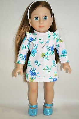 18 Inch Doll Clothes will fit American Girl Our Generation Ruffle Dress Shoes