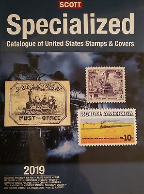 2019 SCOTT Specialized Catalog of U.S. Stamps & Covers includes U.S. Terr. & UN