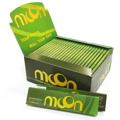 NEW 50 booklets Moon Hemp Rolling Papers 108*45mm King Size Slim 1600 leaves