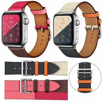 Leather Watch Band Strap Herme Sport Belt Wrist for Apple Watch Series 4 3 2 US