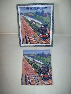 Victory Jig-Saw Vintage Puzzle The Southern Railway Express 60 Pieces Holz 30er