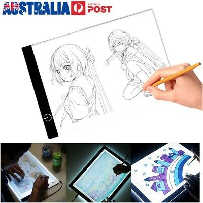 A4 LED Light Box Tracing Drawing Board Art Design Pad Copy Lightbox Day&Light AU