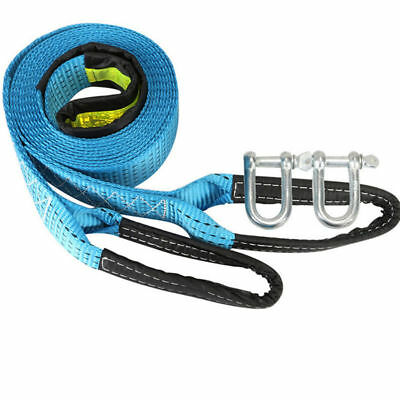 8 Tons 3M Car Tow Trailer Rope Strap Tow Cable with safety Hooks Nylon rope