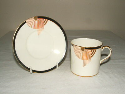 Royal Doulton Art Deco Tango Coffee Cup & Saucer Truly  Stunning