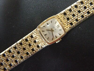 Vintage Lady's Watch A&C  Swiss Made Gold Plated Wind Up Working