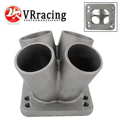 New Cast Stainless Steel 4-1 Turbo header manifold Merge collector T3 T4 Flange