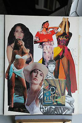 Franco Asinari - Collage Originale Erotico 1 Del 1990 - Splendido