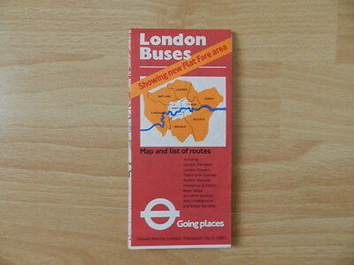 London Buses - Liniennetzplan 1981