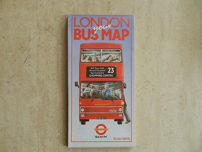 London Buses - Liniennetzplan 1987/88  London Bus Map