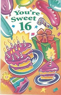 Birthday Card with Envelope 16th
