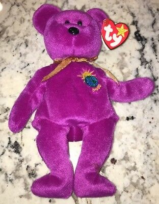 2000 TY Beanie babies Collection Millennium the Bear Plush Toy retired Ex