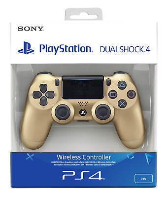New DualShock 4 Gold Wireless Controller V2