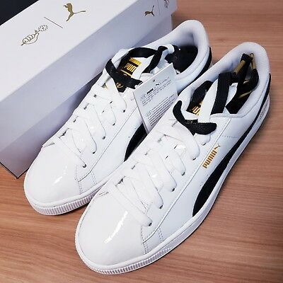 new arrival 7ea4d 0e21e PUMA BASKET PATENT 36827801 BTS Unisex Sneakers Shoes White / Black Photo  Card