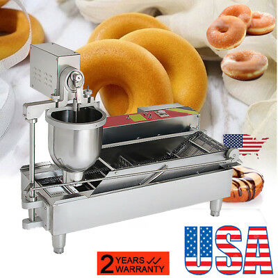 Commercial Automatic Donut Maker Doughnut Machine Wide Oil Tank+3 Sets Bake Mold