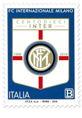 REP. ITALIA 110° ANN. INTER  MILAN calcio  FOOTBALL SOCCER MINT ** MNH