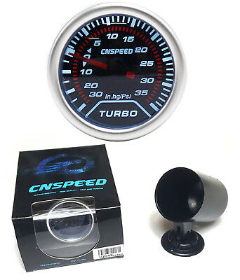 "52mm 2"" Turbo Boost gauge & Pod reads up to 35 Psi"