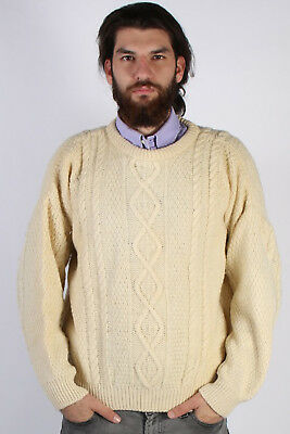 New Mens Brave Soul Vintage Fisherman Cable Knit Jumper Knitted Winter Sweater