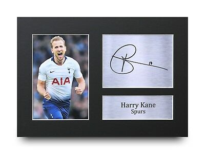 Harry Kane Gift Signed A4 Printed Autograph Tottenham Spurs Gifts Hotspur Print